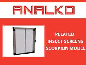 Pleated insect screen Scorpion