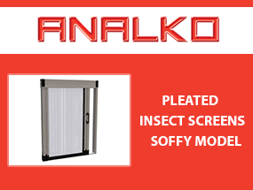 Pleated insect screen Soffy